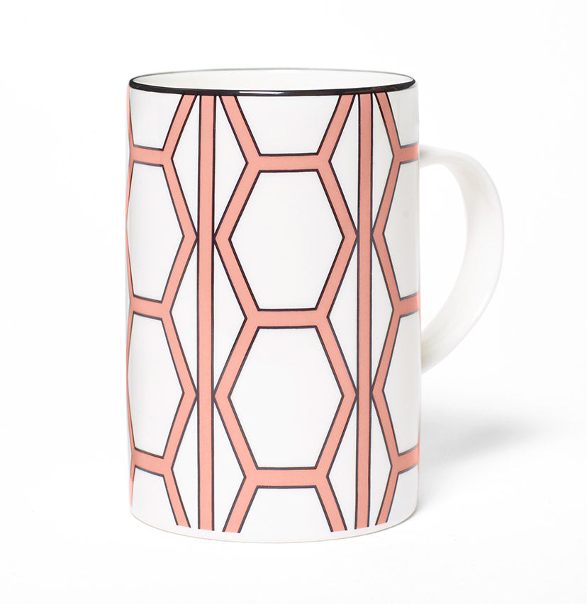 Hex White/Coral Mug - SOLD OUT
