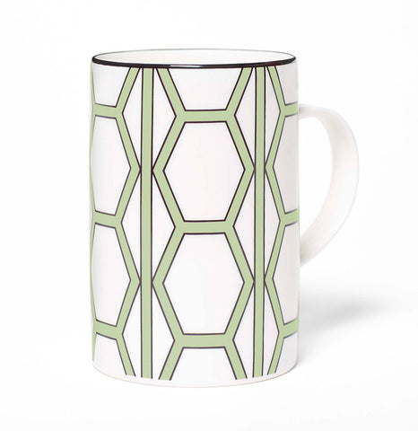 Hex White/Apple Green Mug