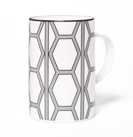 Hex White/Grey Mug