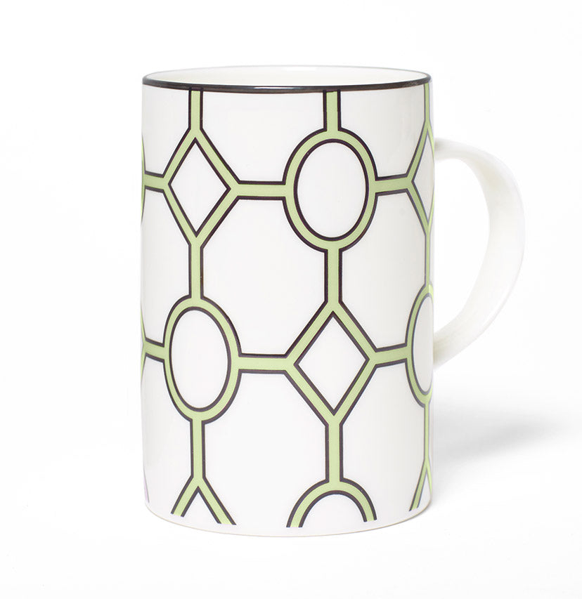 Hoop White/Apple Green Mug