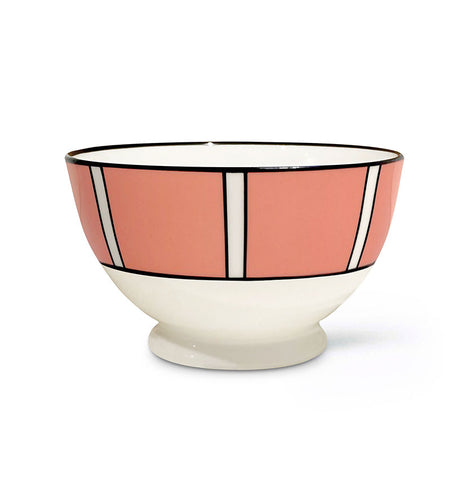 Stripe Coral Sugar/Nut Bowl