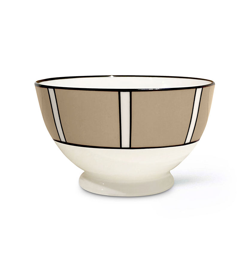Stripe Truffle Sugar/Nut Bowl
