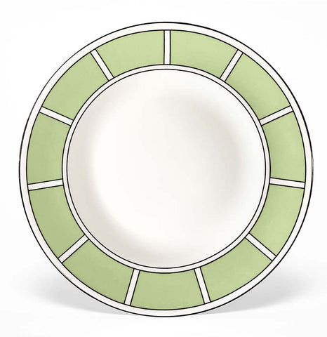 Stripe Apple Green/White Teaplate (Black)