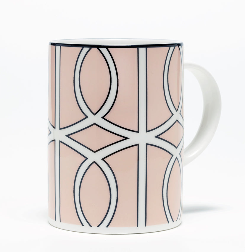 Loop Blush/White Mug (Black)