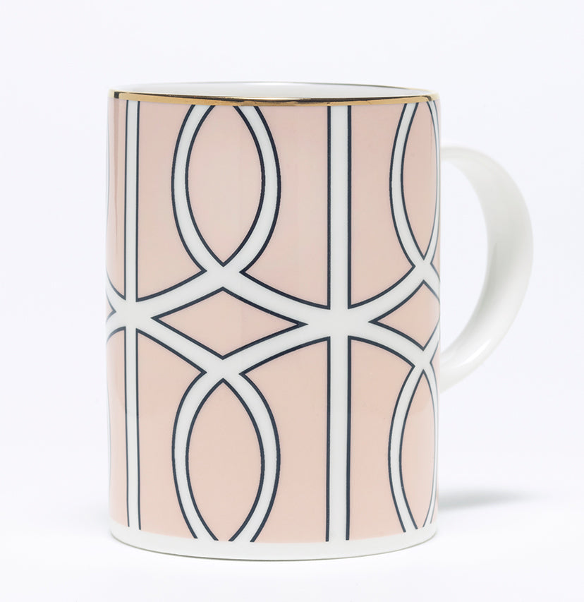 Loop Blush/White Mug (Gold)