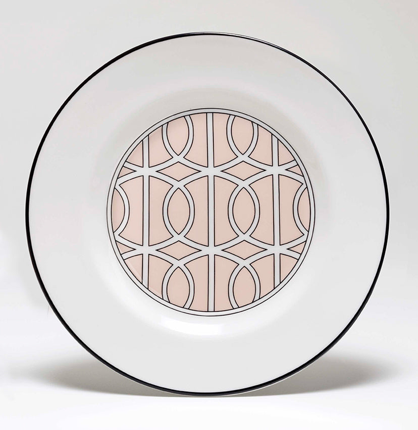 Loop Blush/White Teaplate Inner Design (Black)