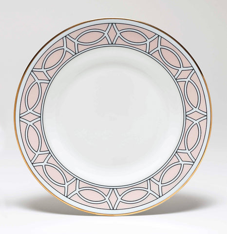 Loop Blush/White Teaplate Outer Design (Gold)