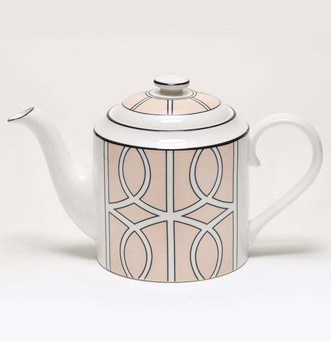 Loop Blush/White Teapot