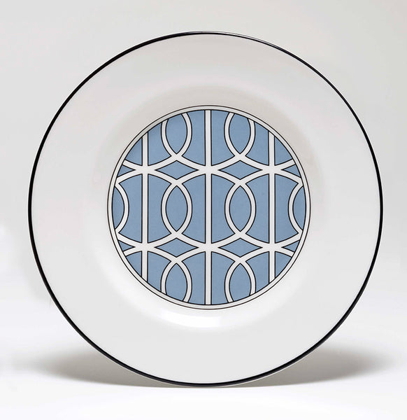 Loop Cornflower Blue/White Teaplate Inner Design (Black)