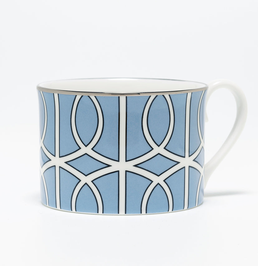 Loop Cornflower Blue/White Demi Cup (Silver)