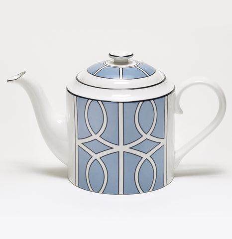 Loop Cornflower Blue/White Teapot