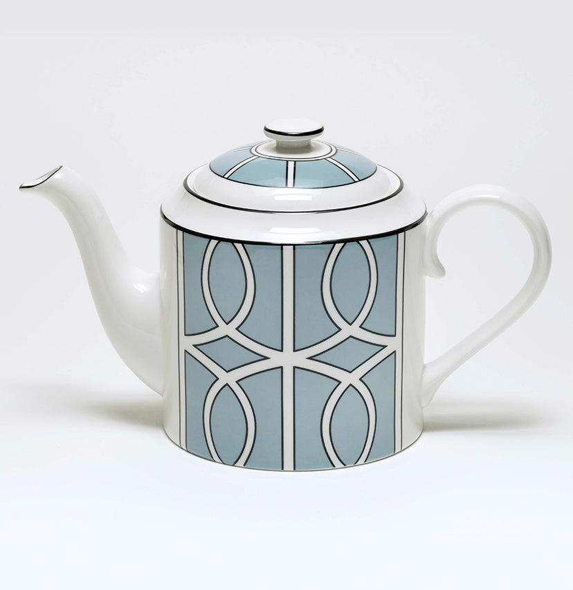 Loop Duck Egg/White Teapot