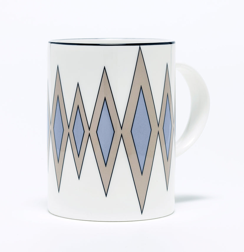 Diamond Truffle/Cornflower Blue Mug