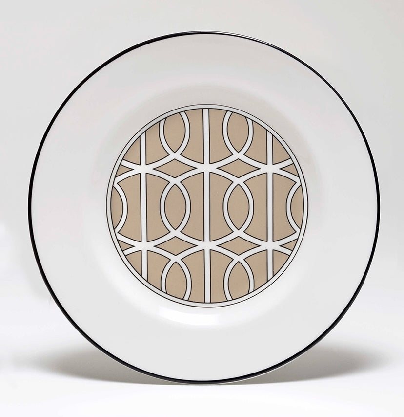 Loop Truffle/White Teaplate Inner Design (Black)