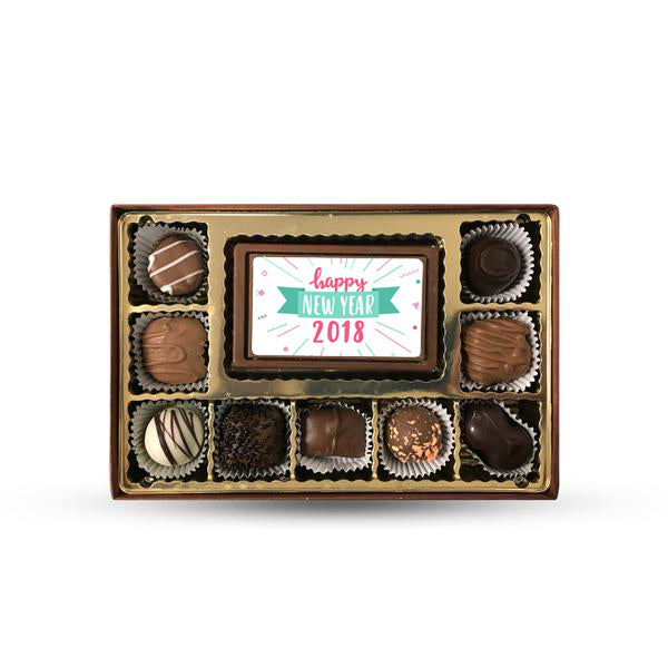 1/2 lb. Personalized Chocolate Truffle Box