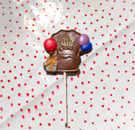 Birthday Cake and Balloon Lollipop