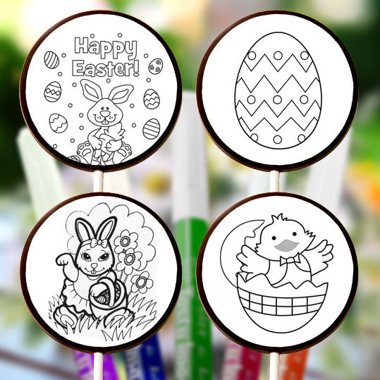 Easter ChocoDoodle Lollipops