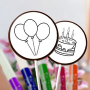 Birthday ChocoDoodle Lollipops