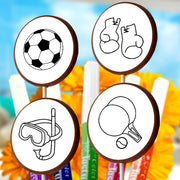 Sports ChocoDoodle Lollipops