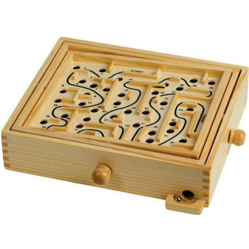 Classic Games Classic Wooden Labyrinth Maze Game - Grizzly Supply Co