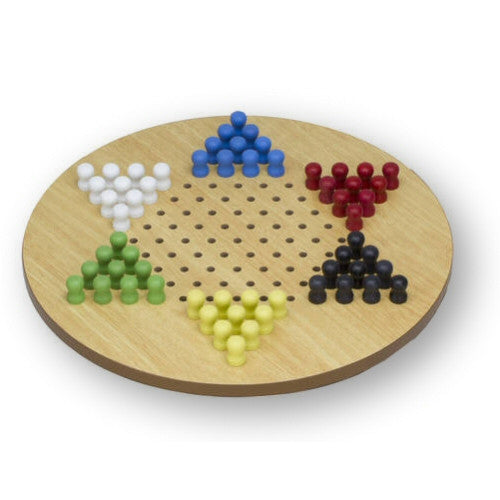 Classic Games Jumbo 17 Inch Diameter Classic Wood Chinese Checkers Game - Grizzly Supply Co