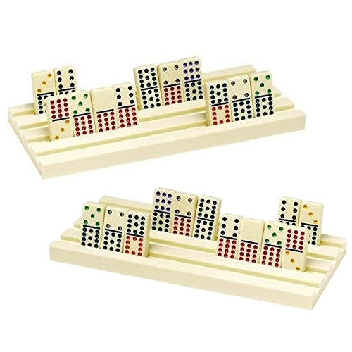 Dominoes Plastic Domino Rack for Holding 44 Jumbo Dominoes - Grizzly Supply Co
