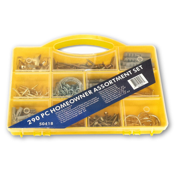 Household Homeowner 290 Piece Assorted Hardware Kit