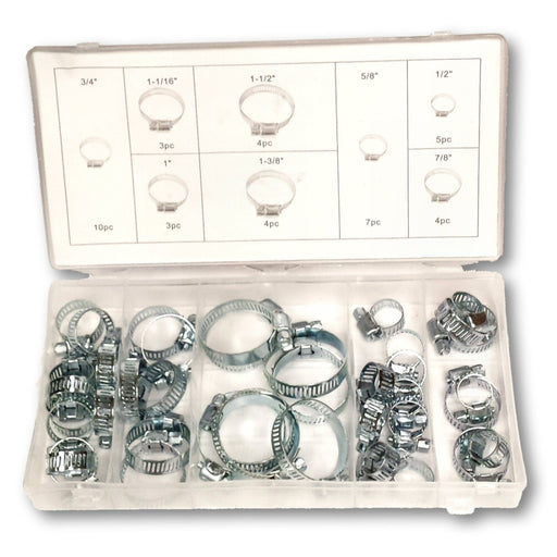 Zinc Plated Hose Clamps Assorted Sizes 40 Pc Hardware Kit