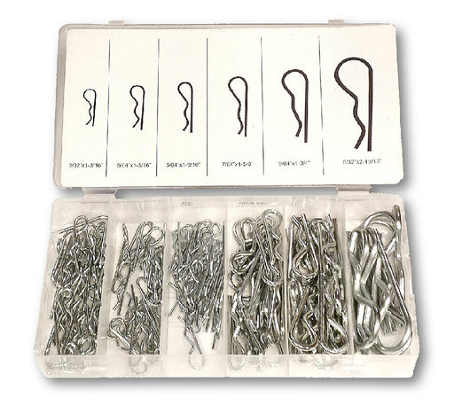 Assorted Zinc Plated Steel Hair Pin Clips 150 Pc Kit
