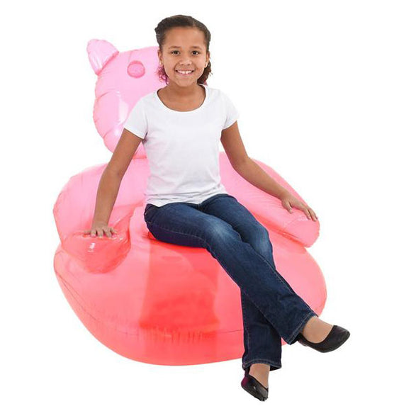 Kids Pink Inflatable Gummy Bear Chair