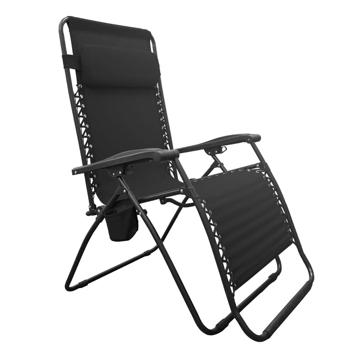 infinity zero chair folding outdoor gravity partysaving lounge brown product us reclining patio rocking