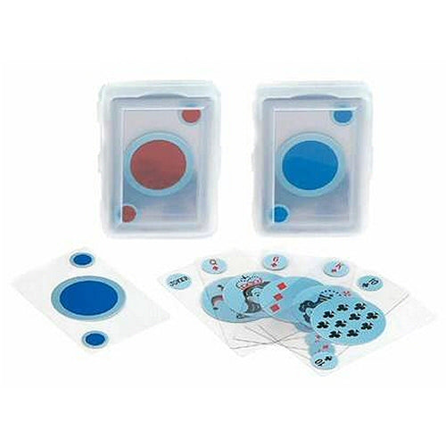 Transparent Playing Cards with Round Back Design
