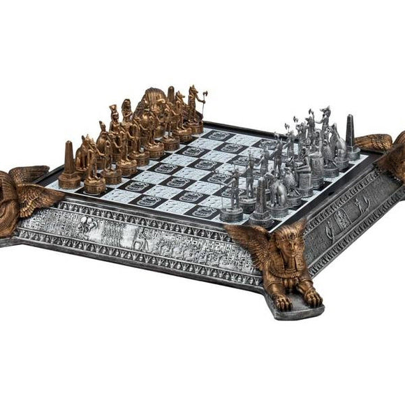 Deluxe Gold and Silver Egyptian Polystone Chess Set