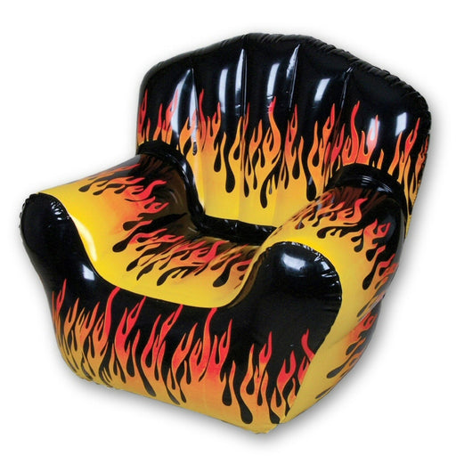 Inflatable Furniture Inflatable Flame Pattern Bubble Style Blow Up Chair - Grizzly Supply Co