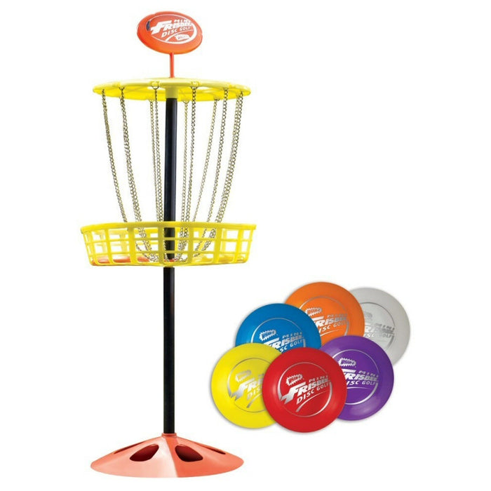 Outdoor Toys & Games Wham-O Mini Disc Golf Basket With Mini Frisbees - Grizzly Supply Co