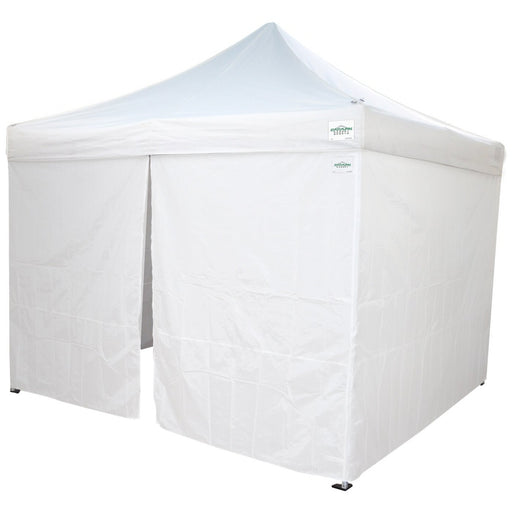 Caravan Canopy AlumaShade 10 Ft x 10 Ft Aluminum Instant Canopy with Sidewalls