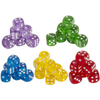 Game Room Translucent 16mm Game Dice with Rounded Corners, Set of 200 each - Grizzly Supply Co