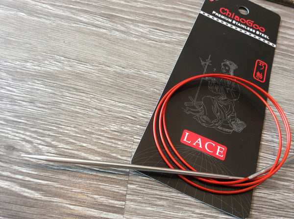 ChiaoGoo Red Lace 47'' circulaires fixes / Stainless Steel fixed circular