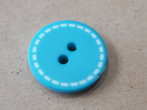 Bouton bleu de 2cm  / Blue button 0,8''