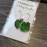 Boucles d'oreilles balles de laine / Yarn ball earrings