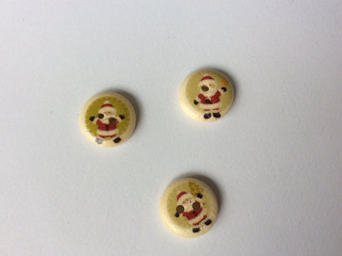 Boutons noel 1.5cm /Christmas buttons 5/8""
