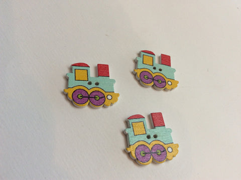 Boutons train / train shaped buttons