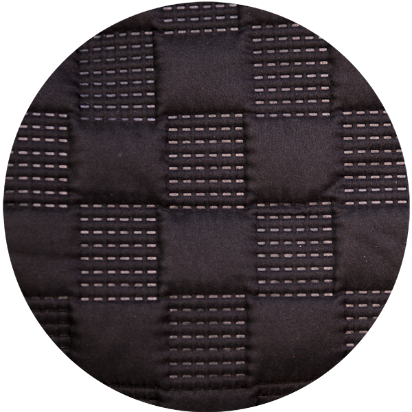Ultrasonically fused quilted interior