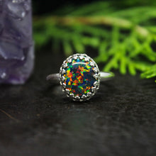 Load image into Gallery viewer, Rainforest Aura Opal Sterling Silver Ring