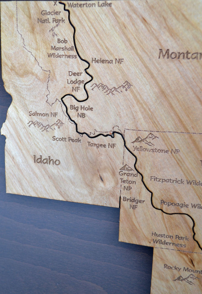 Continental Divide On Us Map.The Continental Divide Trail Wood Map Amber Lodge