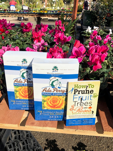Ada Perry's Magic Formula 2 Five Pound Boxes plus a copy of HOW TO PRUNE FRUIT TREES AND ROSES  FREE PRIORITY MAIL SHIPPING