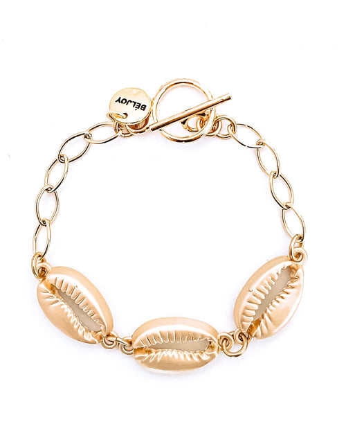 Beach Shell + Chain Bracelet