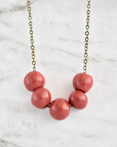 Poppy Necklace || Choose Color