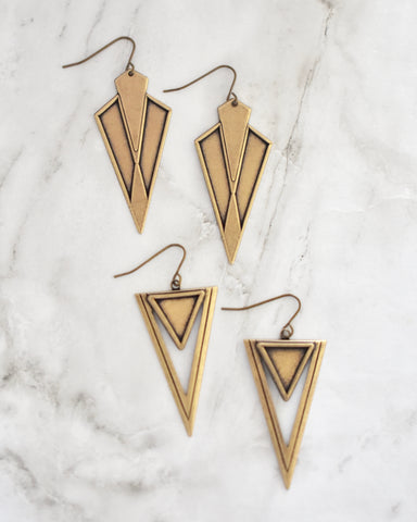 Eve Earrings || Haitian Horn