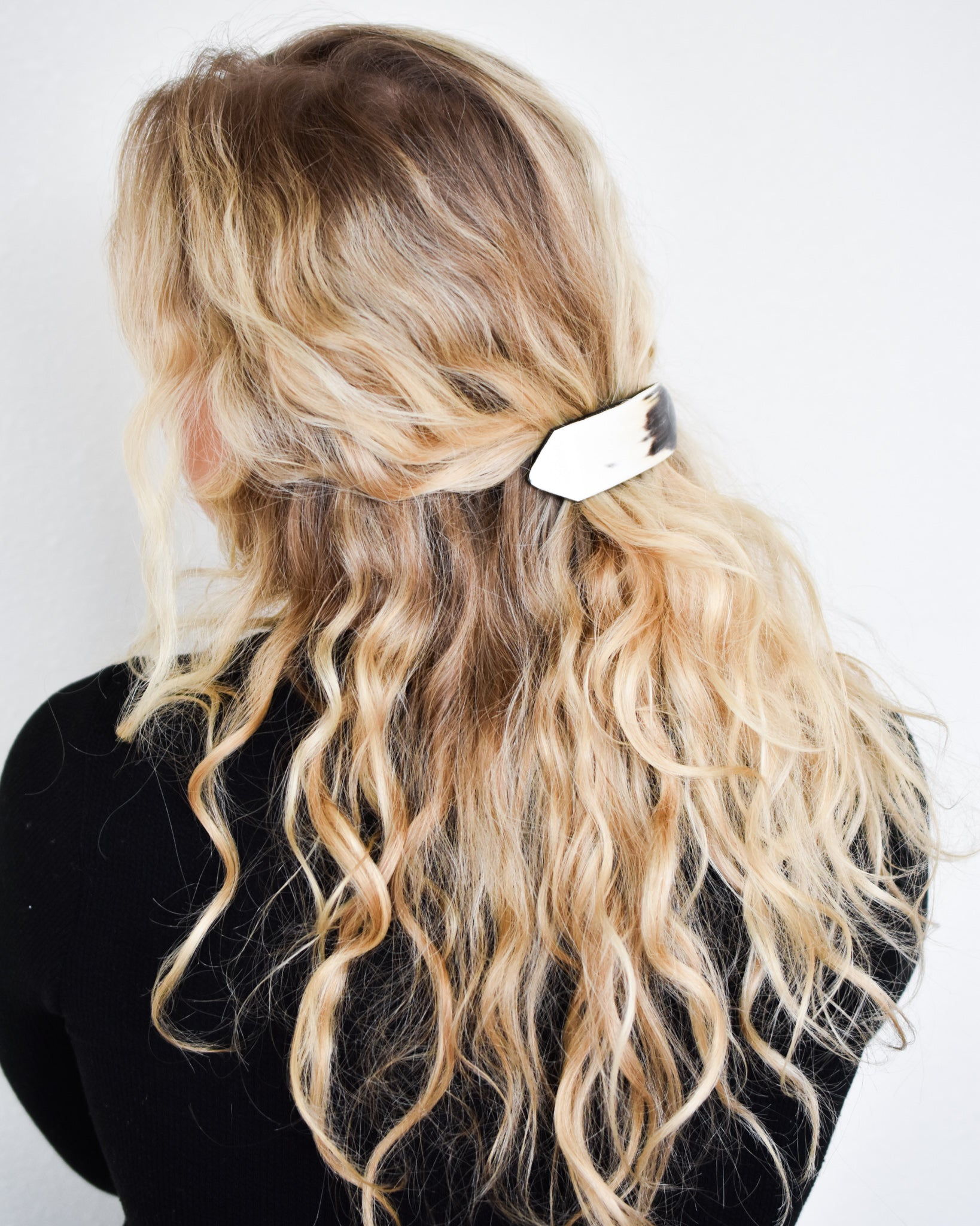 Haitian Hand Carved Horn Hair Barrette || Choose Style